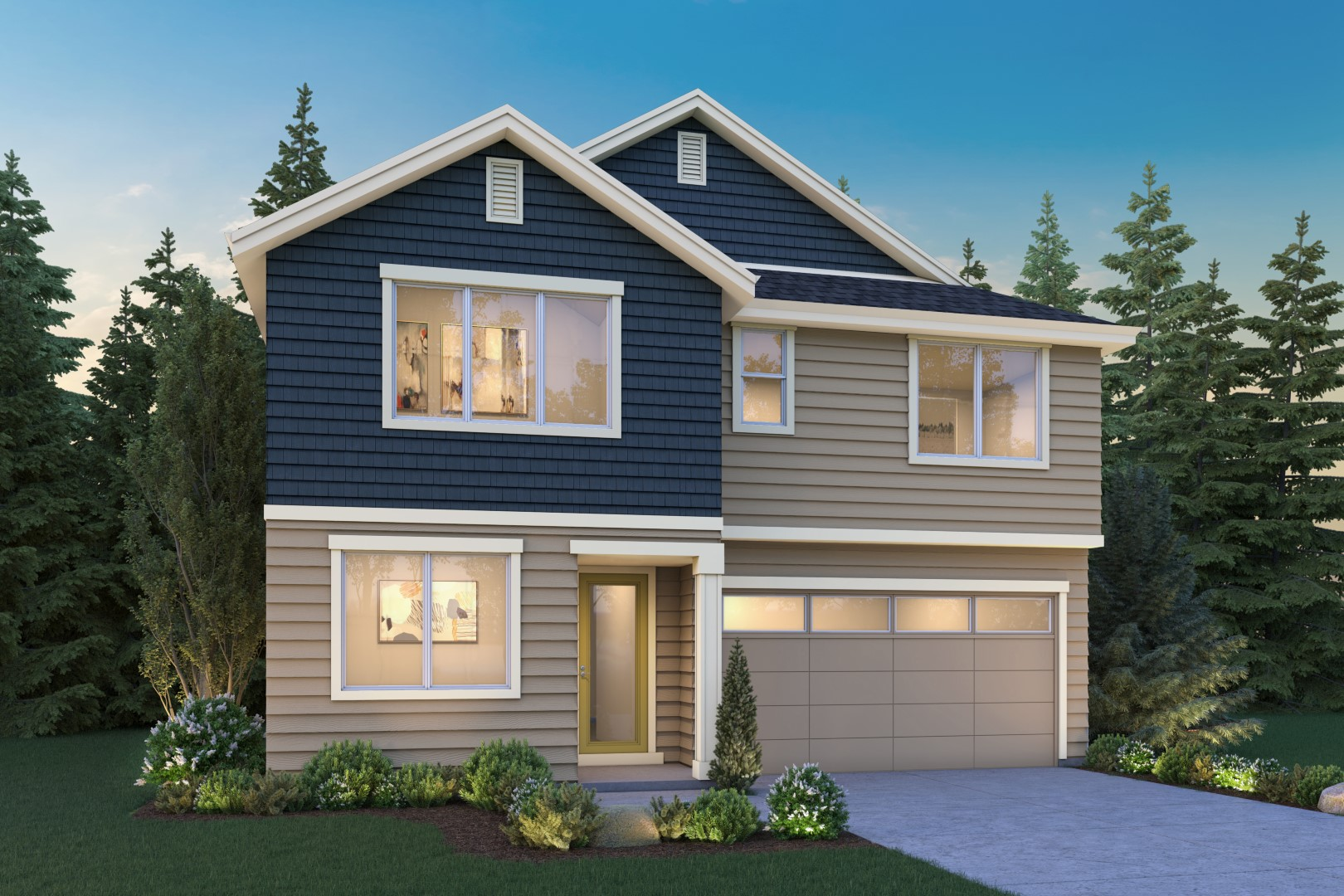The Eileen at Malloy Terrace by Sage Homes Elevation A