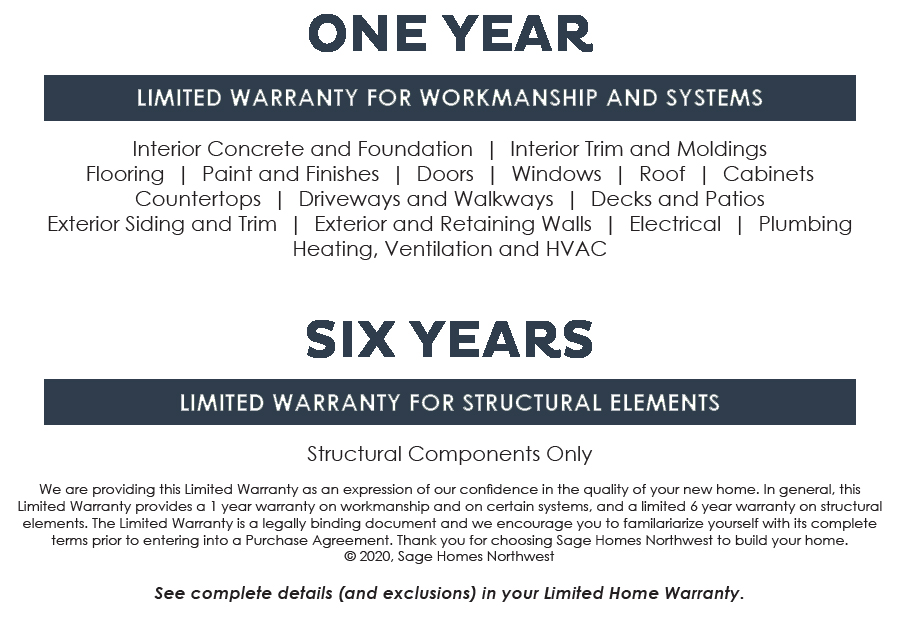 One and Six year warranty image