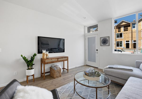 Living room of the Meier at Spectra II by Sage Homes