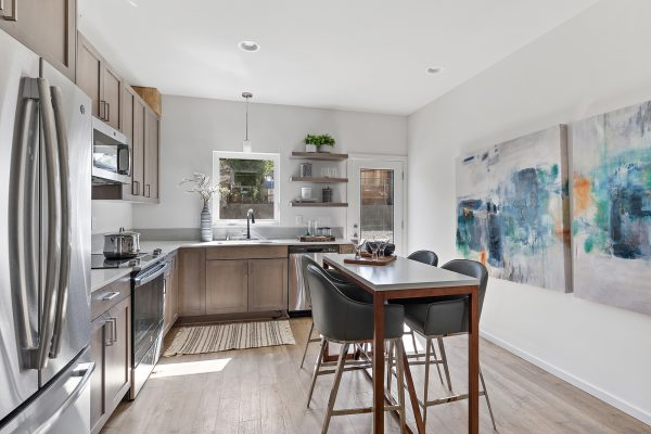 Dining and Kitchen of the Meier at Spectra II by Sage Homes