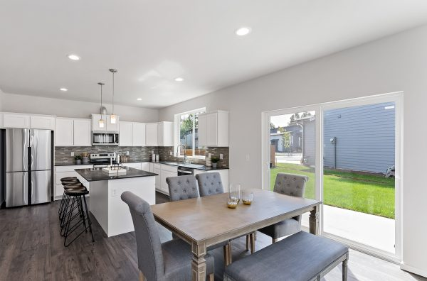 The Lautner at Malloy Terrace Lot 23 Kitchen, Dining, and Backyard